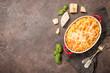 Leinwanddruck Bild - Mac and cheese, american style pasta