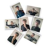 cartoline con espressioni maschili - 209086015