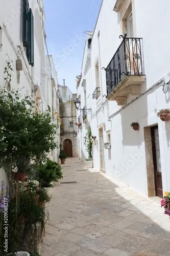 the city view in Locorotondo, Puglia, Italy - 209088277