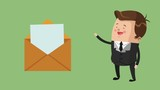 Businessman with envelope High Definition animation colorful scenes - 209089853