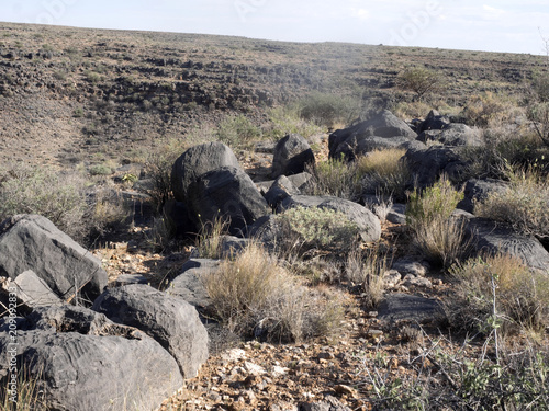 Interesting stones in central Namibia.