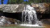 Mountain river close up video with waterfall. SloMotion 240 FPS - 209095030