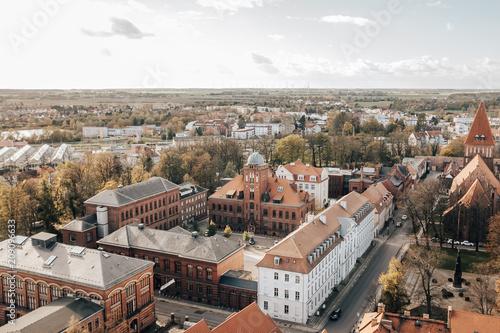 Historischer Campus der Universität Greifswald von oben - 209096633
