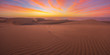 Leinwanddruck Bild - Famous natural park Maspalomas dunes in Gran Canaria at sunrise, Canary island, Spain