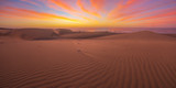 Famous natural park Maspalomas dunes in Gran Canaria at sunrise, Canary island, Spain - 209099455