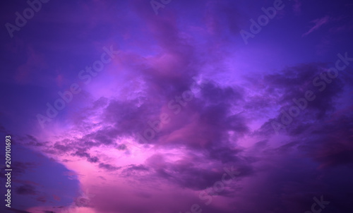 violet sky with clouds © vlntn