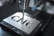 Leinwandbild Motiv 3D-Illustration CNC Metalfräse