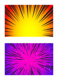 Set of Sun Rays or Explosion Boom for Comic Books Radial Background Vector - 209104000