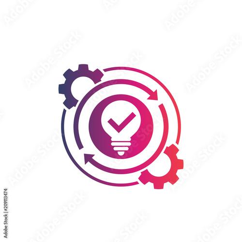 Fototapeta creativity, creative process icon on white