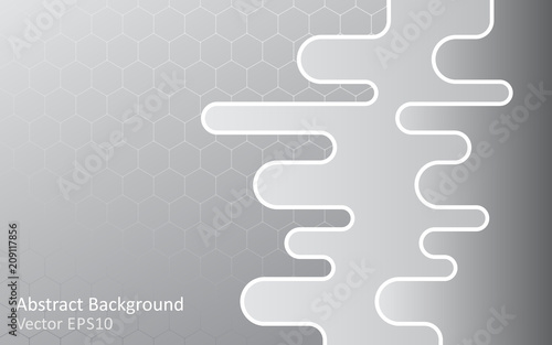 Canvas Abstractie Art Silver grey abstract vector background