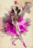 Carnival Dancer. An hand painted picure with some dancing woman. - 209125278