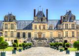 Fontainebleau palace (Chateau de Fontainebleau) near Paris, France - 209131053