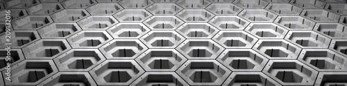 futuristischer header / Wabenanordnung - 209132016