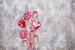 Pink lollipop and candy cane