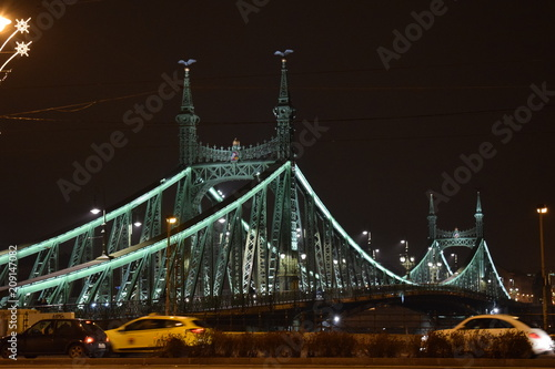 Fotobehang Bruggen bridge in the night