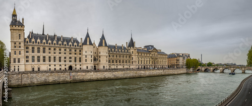 Panoramic view of the Palais de la Cité, former prison in Paris, France - 209151478