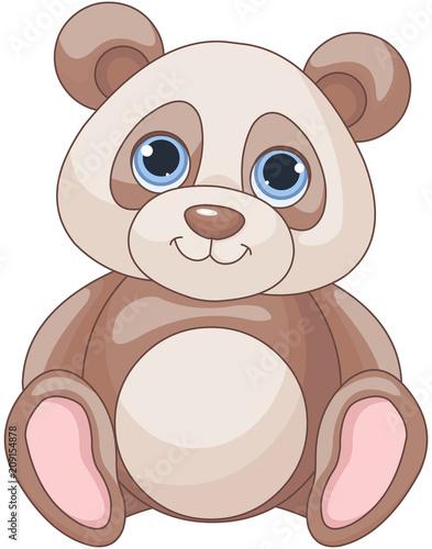 Aluminium Meisjeskamer Baby Panda