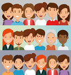 group of friends characters vector illustration design