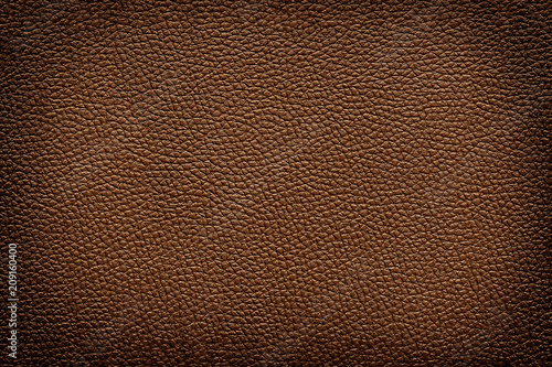 Fototapeta Old vintage brown leather texture closeup for background