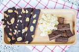 crispy brownie with chocolate and almond - 209161083