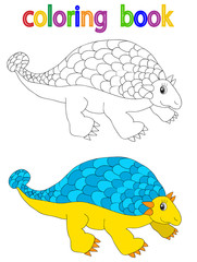 book coloring, dinosaur