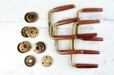 Vintage wooden brass door handles - 209178295
