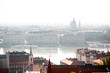 Cityscape view on Budapest with saint Stephen basilica and Danube river in Hungary - 209178446