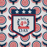 pennant eagle decoration american independence background vector illustration - 209179626