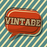 vintage classic speech bubble badge stripes background vector illustration - 209180217
