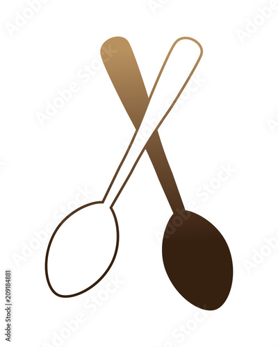 spoons crossed isolated icon vector illustration design