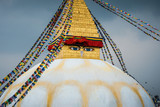 Boudhanath stupa in Kathmandu, Nepal. Stormy clouds in the background.  - 209189631