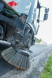 modern street sweeper cleaner truck - 209190868