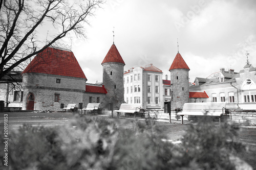 Guard towers of Viru Gate in Tallinn © Aliaksei