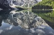Reflection of the mountain in the water