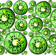 watercolour kiwi pattern	 - 209199622