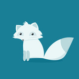 Cartoon arctic fox. - 209204650