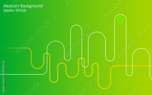 Canvas Abstractie Art Light green abstract vector background