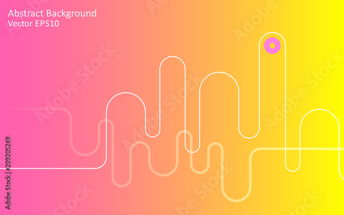Canvas Abstractie Art Yellow pink abstract vector background