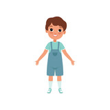 Cute preschooler boy, stage of growing up concept vector Illustration on a white background - 209207660