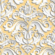 Seamless oriental ornament. Fine traditional oriental pattern with 3D elements, shadows and highlights - 209209044