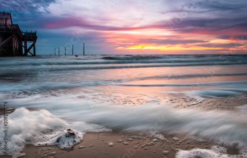 Aluminium Noordzee Sonnenuntergang Nordsee