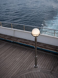 lamp post on a ferry deck - 209212248