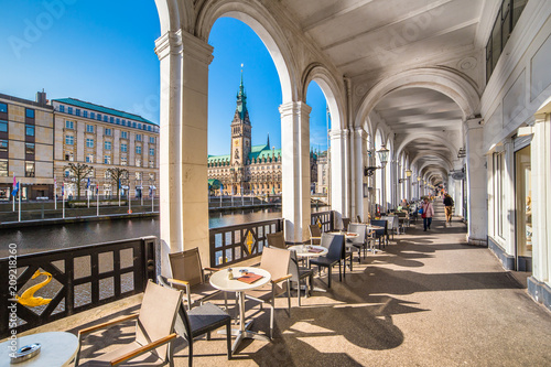 Leinwanddruck Bild Hamburg - Germany
