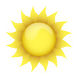 yellow sun on a white background