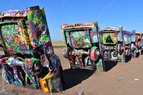 Fotobehang Route 66 Cadillac Ranch in Amarillo Texas on Route 66