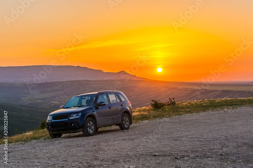 Aluminium Zomer Picturesque sunset
