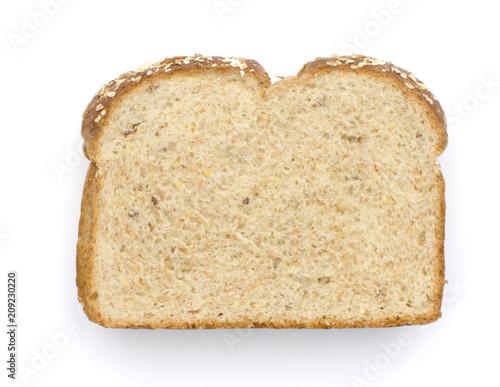 Fotobehang Koffiebonen una rebanada de pan integral