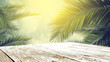 Leinwanddruck Bild - table background of free space and mood landscape of palms