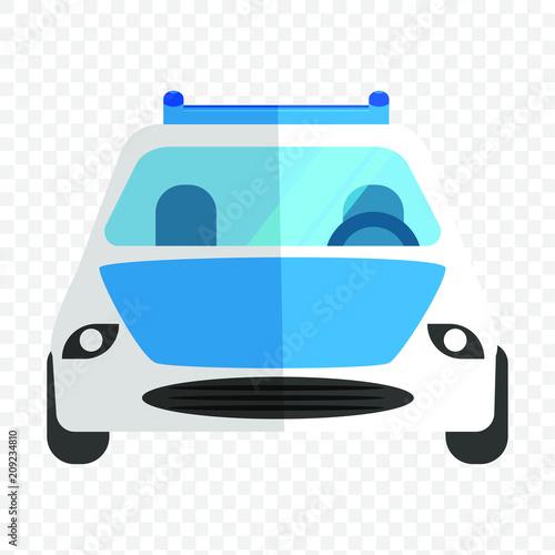 Fotobehang Auto Illustration eines Autos von vorne