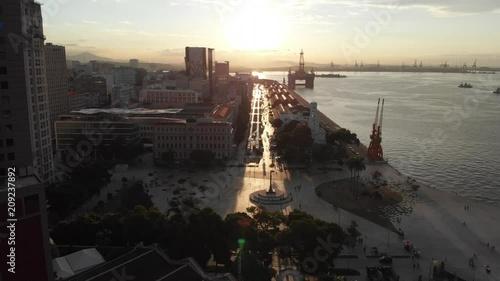 Aerial images of the center and port area of ??Rio de Janeiro